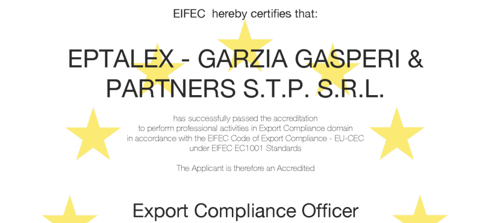 EIFEC Export Compliance Officer