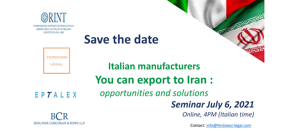 Save the date: Export to Iran