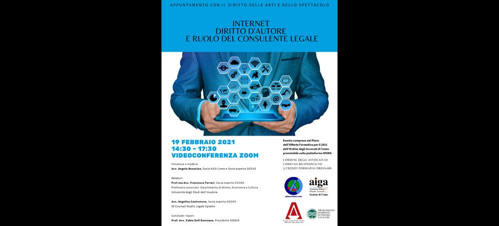 Internet Diritto d'Autore e Ruolo del Consulente Legale
